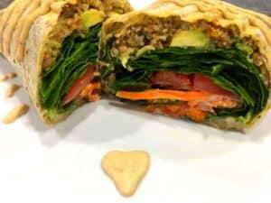 33058150643_375d85929e_o-2-300x225 Spicy Vegan Lentil Wrap with Baja Sauce