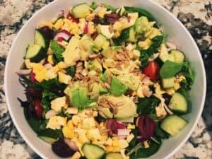32814074998_ddb759fbd6_o-300x225 Vegan Ingredient Salad with Champagne Vinaigrette Tahini Dressing