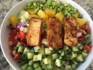 IMG_8773-e1565296029559-300x225 Spicy Tofu Asian Salad with Skinny Peanut Dressing